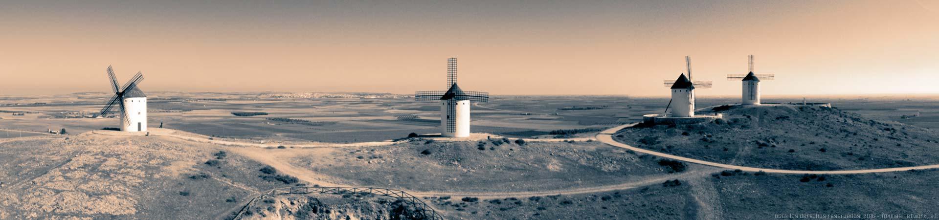 Diseño web Castilla La Mancha - Molinos de viento